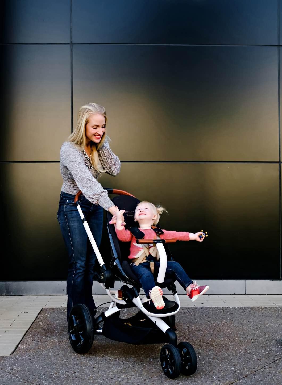 mom daughter matching - Maxi Cosi Rachel Zoe Collection by Atlanta mom blogger Happily Hughes