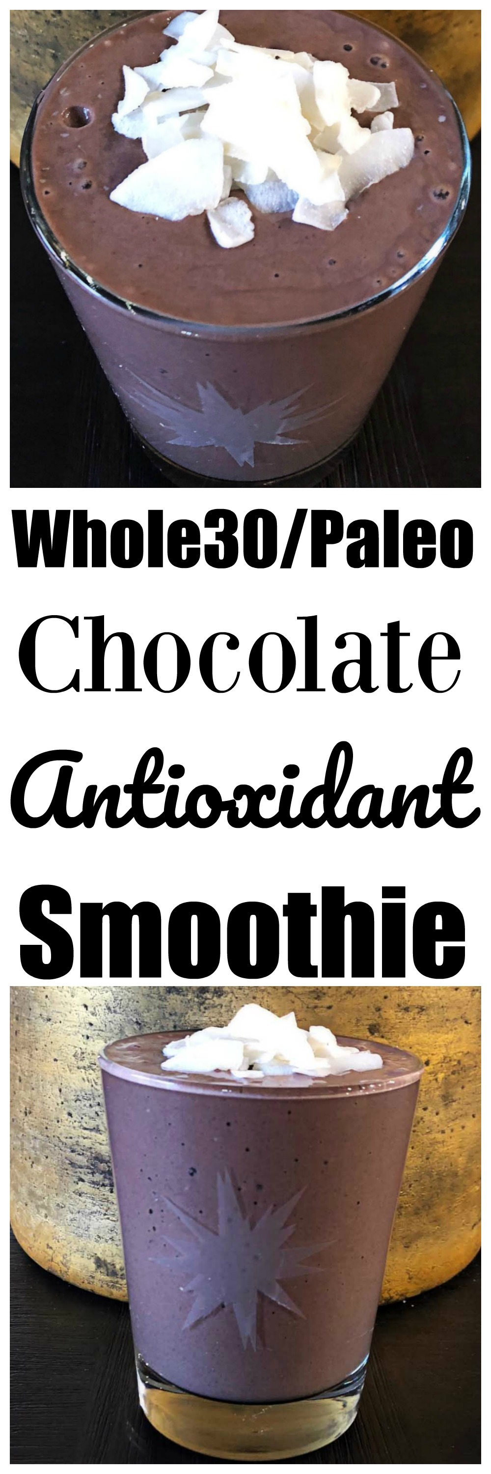 Whole30 Antioxidant Smoothie Recipe by popular Atlanta fitness blogger Happily Hughes