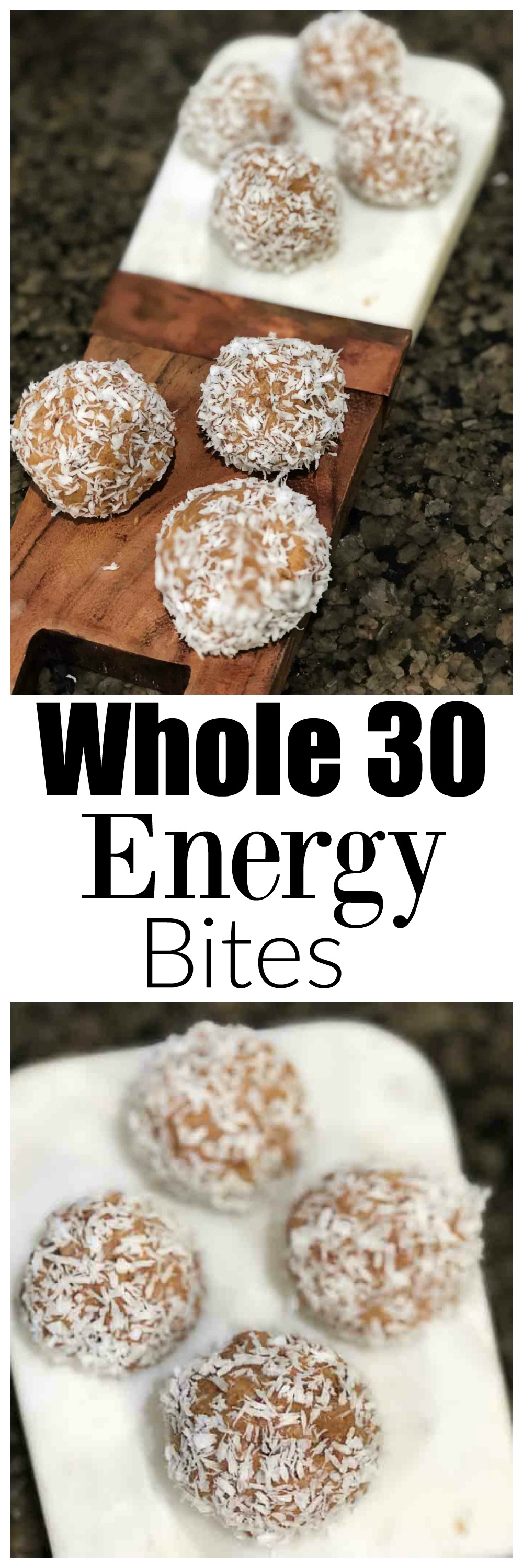 whole30 energy bites - Whole30 Snacks: Delicious Energy Bites by Atlanta fitness blogger Happily Hughes