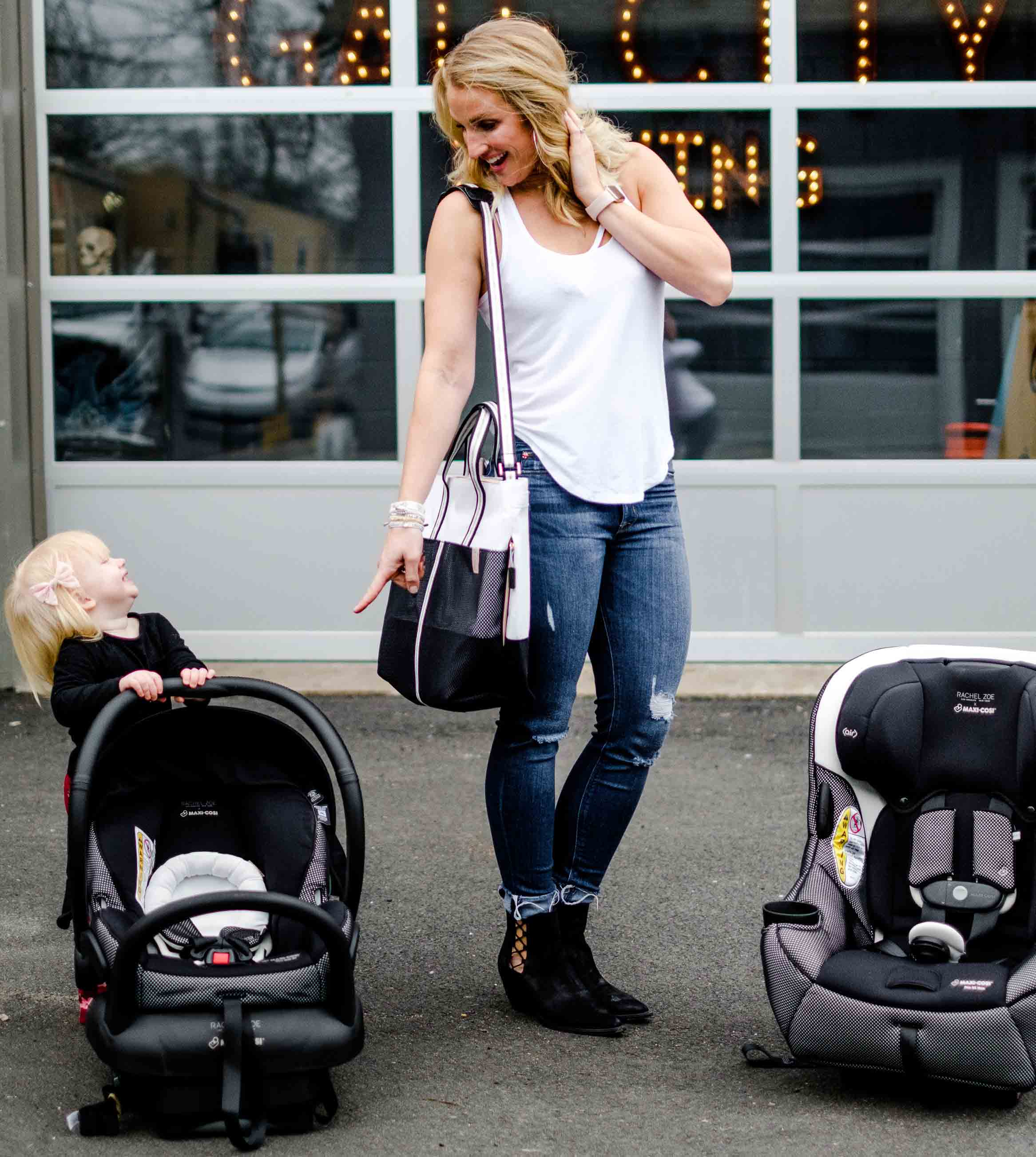 Maxi-Cosi x Rachel Zoe Collection by popular Atlanta lifestyle blogger Happily Hughes
