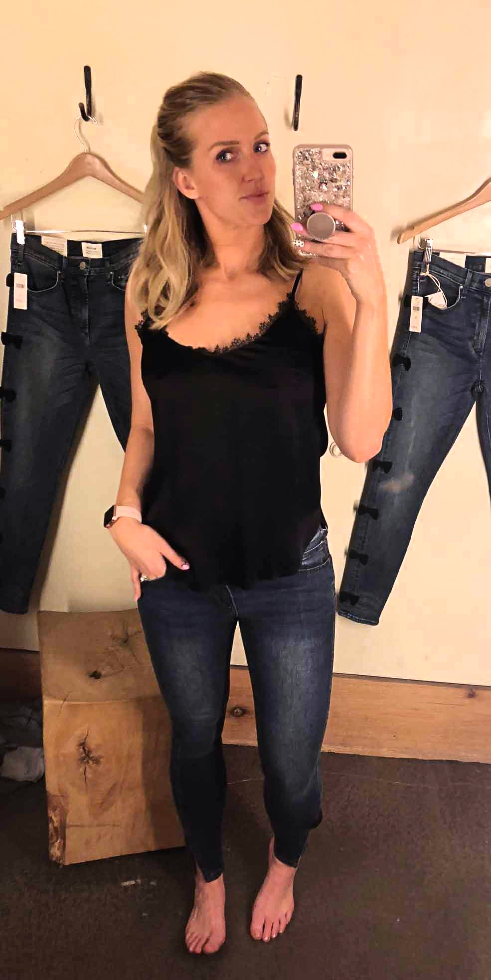 Jean Guide: The Best Jeans for Curvy Women by popular Atlanta style blogger Happily Hughes