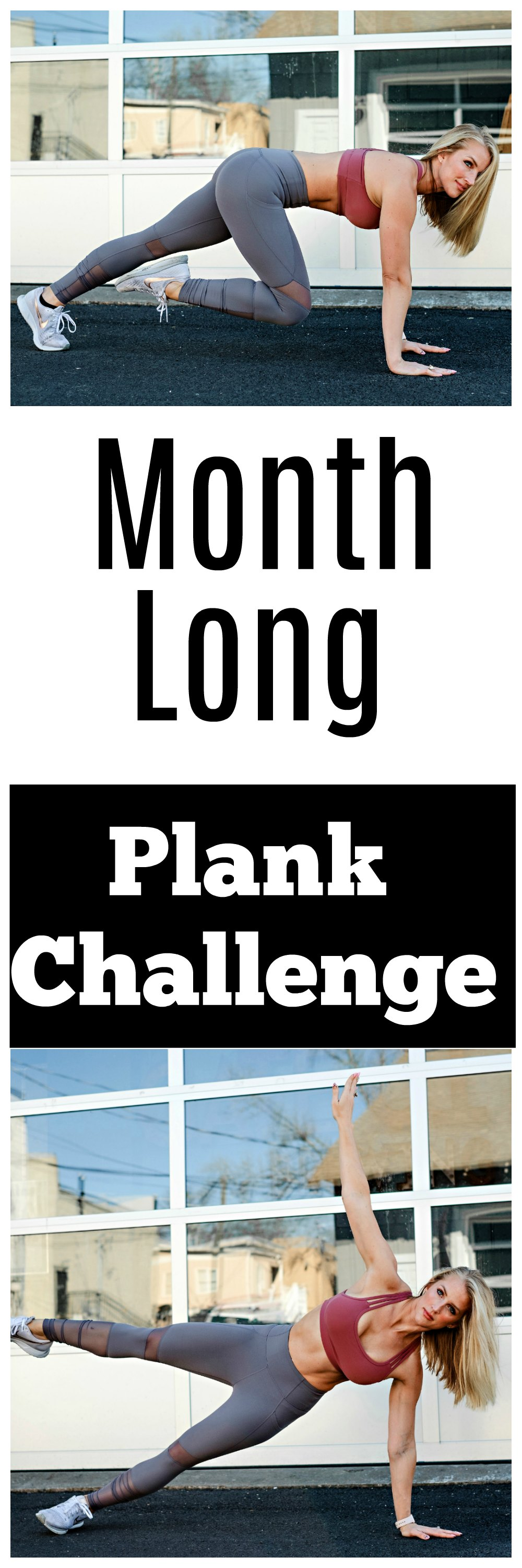 Plank Challenge by popular Atlanta fitness blogger Happily Hughes