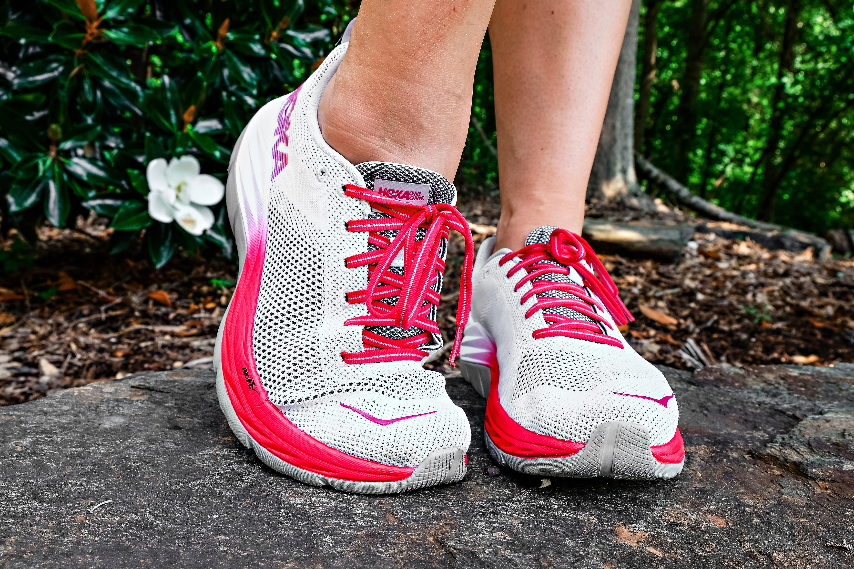 Best Running Shoes with HOKA ONE ONE featured by popular Atlanta fitness blogger Happily Hughes