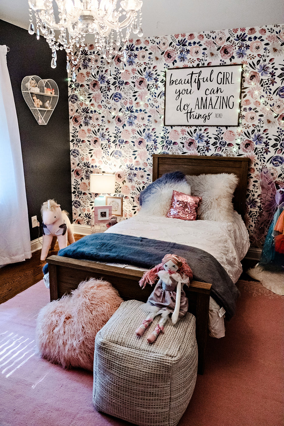 Meg Basinger | Little Girl Room Decor featured by popular Atlanta life and style blogger Happily Hughes
